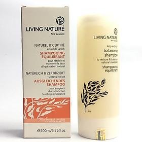 Dầu gội hỗ trợ trị gàu, cân bằng dầu Living Nature Balancing Shampoo 200ml