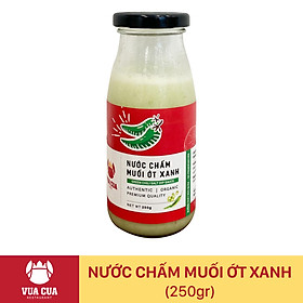 [Chỉ Giao HCM] - MUỐI ỚT XANH VUA CUA (chai 250gr)