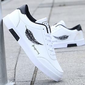 Giày Nam Thể Thao Sneaker Vải Dệt Cực Chất Đế Cao Su Nguyên Khối Siêu Êm Họa Tiết Lông Vũ CTS-GN026-1