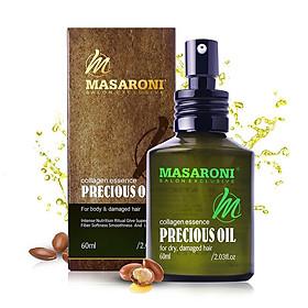 Tinh dầu Argan Masaroni Precious Oil Collagen Essence dưỡng bóng mượt tóc Canada 60ml