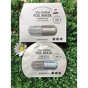 Combo 10 Mặt nạ cao cấp dưỡng sáng da và làm mờ vết thâm Banobagi Vita Cocktail Brightening Foil Mask - Intensive Brightening 30ml x10