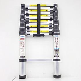 Thang nhôm rút gọn JUMBO B380 - Chiều cao tối đa 3.8m, chiều dài rút gọn 0.81m, tải trọng 300kg