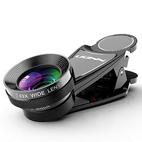 Lens Chụp Ảnh Cho Điện Thoại Góc Rộng 0,63X Wide Lens, Macro 15X L-113