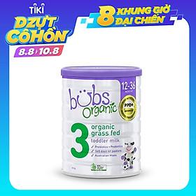 Sữa bò hữu cơ Bubs số 3 cho trẻ 12 - 36 tháng tuổi