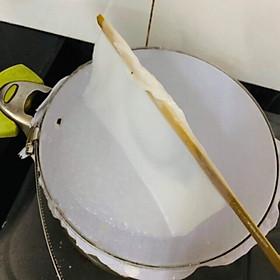 Bộ Dụng Cụ 3 Món Đai Inox, Vải Và Cây Gạt Làm Bánh Cuốn Tiện Dụng