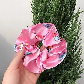 Cột tóc Scrunchies họa tiết Noel giáng sinh