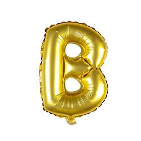 Bong bóng chữ cái màu vàng 35 cm (chọn chữ A - Z)