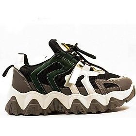 Giày Sneaker Đế Cao MKS186GY XÁM cá tính mạnh mẽ, thời trang.