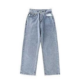 IELGY High waist straight jeans women's trousers
