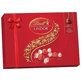 Hộp quà sô cô la sữa Lindor Lindt - 14 chiếc/ 168g