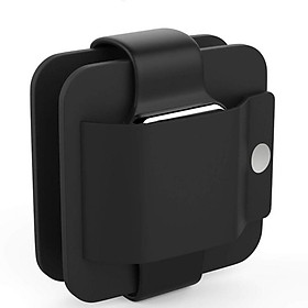 Sạc Đồng Hồ Thông Minh Apple IWatch Bằng Silicone (38mm) (42mm) - Đen