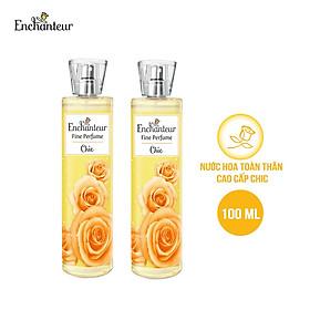 Combo 2 Nước hoa toàn thân cao cấp Enchanteur hương Chic/Princess/Beauté 100ml/chai