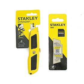 Combo Dao rọc cáp Stanley STHT10779-8 cán nhôm và Vỉ 5 lưỡi dao rọc cáp cong Stanley 0-11-983