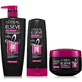 Bộ chăm sóc tóc ngăn gãy rụng tóc toàn diện L'Oreal Paris Fall Resist 3X