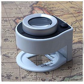 Kính lúp cầm tay phóng đại 30X có thước đo cao cấp 2106 ( Tặng miếng thép đa năng để ví )