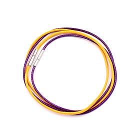 Combo 2 sợi dây vòng cổ cao su - vàng + tím DCSVI1