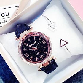 Đồng hồ thời trang nữ Candycat Cdn1 mặt số la mã dây da nhung mẫu mới