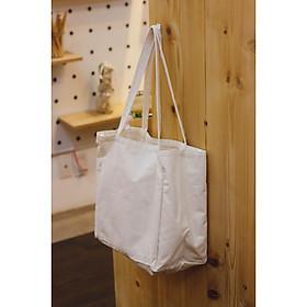 Túi tote ba gang trắng - Vải Canvas