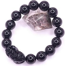 Vòng tay đá Mix Tỳ hưu Obsidian 12ly HLPT