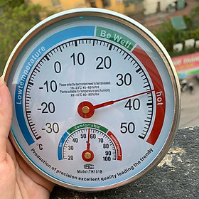 Ẩm nhiệt kế cơ TH101B đo độ ẩm và nhiệt độ trong phòng không dùng pin