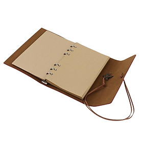 Leather Journal Notebook Portable Loose Leaf Blank Notebook  Yellow