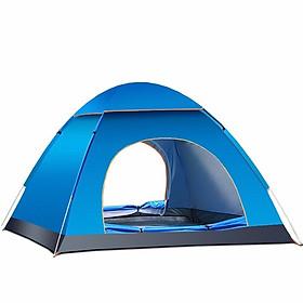 Lều cắm trại chống nước tự bung 2 cửa dành cho 4-5 người cỡ lớn 2mx2m cao cấp