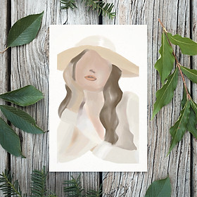 Tranh Poster Phong cách tối giản, Bohemian, Lady, Lifestyle, Fashion, Minimalism, Pastel, SOYN PTK013