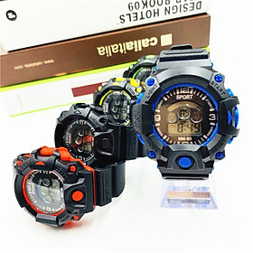 Đồng hồ điện tử nam Sport mẫu mới cá tính sp1,mặt tròn dây nhựa dẻo,hiển thị giờ - ngày tháng và đèn
