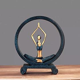 Tượng Cô gái Yoga - Trang trí kệ Tivi, phòng khách, phòng ngủ, phòng tập Yoga