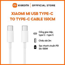 Dây Cáp Sạc Xiaomi USB Type-C ra USB Type-C 150cm SJV4108GL - Hàng chính hãng