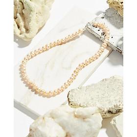 Chuỗi dây chuyền ngọc trai nuôi thiên nhiên hồng 6li khoá bạc 925 - Cami.J
