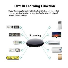 IR Remote Control for  Alexa Google Home for TV DVD AC STB etc 6.4cm round
