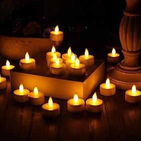 Combo 10 đèn nến điện tử bóng led trang trí nhà cửa, sinh nhật lễ tình nhân, lãng mạn (kèm pin)