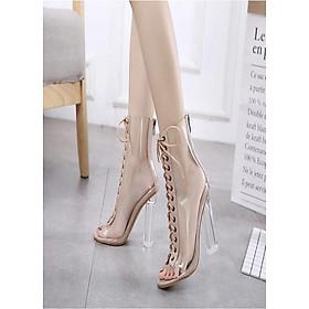 Giày bốt nữ cột dây trong cao cấp