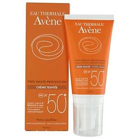 Combo Kem Chống Nắng Có Màu Avène Very High Protection Tinted Cream SPF 50+ (50ml) Và Nước Khoáng Avène Thermal Spring Water A1ATW1 (50ml)