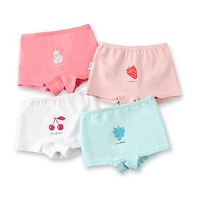 Hình đại diện sản phẩm Duo Xier Dorsill Children's Underwear Girls Boxer Baby Briefs Little Girl Big Boy Shorts A Sweet Fruit 80