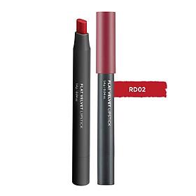 Son Đa Năng The Face Shop Flat Velvet Lipstick RD02