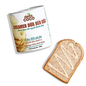 Creamer Dừa Béo Đặc Delta Coco 300gr, Sánh Đặc và Thơm Béo Vị Dừa, Cô Đặc Từ 100% Nước Cốt Dừa Bến Tre, Dùng Ăn Kèm Bánh Mì, Pha Cà Phê, Làm Bánh, Kem Dừa, Sữa Chua Dừa