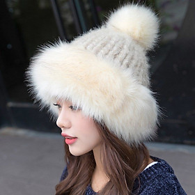 Mũ Len Giả Lông Thú