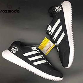 Giày Thể Thao Sneaker Nam Nữ (Đen Sọc Trắng)