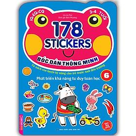 Bóc Dán Hình Thông Minh Phát Triển Khả Năng Tư Duy Toán Học IQ EQ CQ (3-4 Tuổi) - 178 Sticker (Quyển 6)