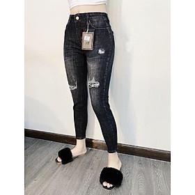 Quần jean nữ lưng cao Julido, chất jean cotton co dãn tôn dáng phụ nữ eo thon mẫu KPP05