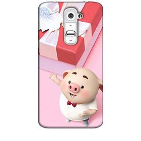 Ốp lưng dành cho điện thoại LG G2 Heo Con Đòi Quà