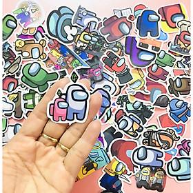 Set 100 Sticker Among Us ảnh decal hình dán ép lụa