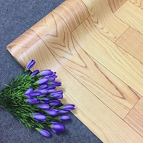 Simili trải sàn loại nhám - vân gỗ nâu ( vân to - mẫu mói )