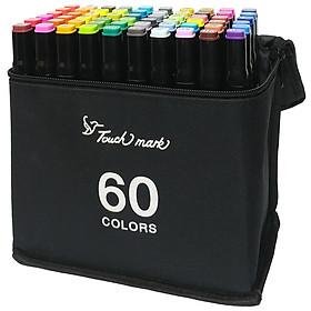 Hộp 60 Bút Lông Màu Touch 2 Đầu Thân Đen T3-18-60