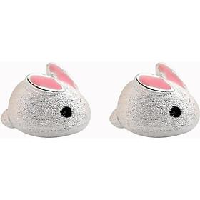 Bông tai bạc nữ bạch thỏ Tiêu Chiến Trần tình lệnh ma đạo tổ sư khuyên tai nữ tặng thẻ Vcone