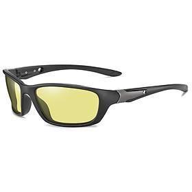 Kính mát đổi màu kiểu dáng thể thao ROBEO A5307 - Gọng đen nhám