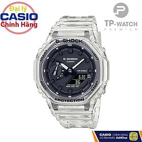 Đồng Hồ Nam Casio G-Shock GA-2100SKE-7ADR Chính Hãng | Casio G-Shock GA-2100SKE-7A Transparent Pack Dây Nhựa