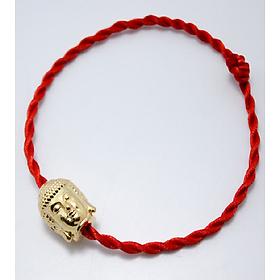 Vòng tay phong thủy mix mặt phật bạc 925 xi vàng CD7V - B - M vòng chỉ đỏ may mắn mặt phật - vòng phong thủy cho nam và nữ